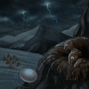 They lose their Brother. An Illustration from Kayah's adventures