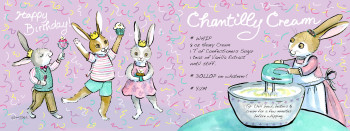 Birthday Bash Bunnies - Chantilly Cream