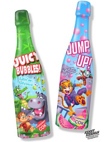 Funny Cartoon Animals soft drink bottle labels