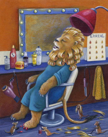 Lion at Hairdressers