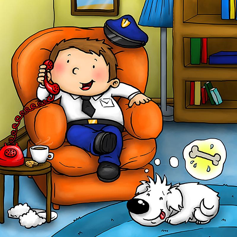 Policeman Paul receives a phone call
