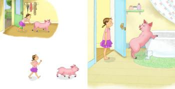 Nina and the pig