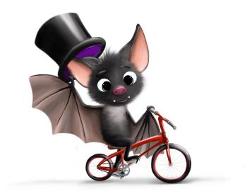 Bat on the bike