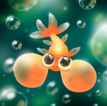 Little Bubble Eye Goldfish
