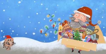 Christmas story  - The cover - Santa