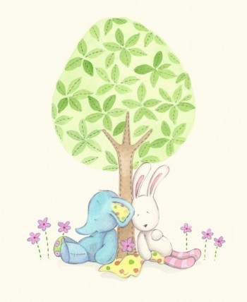 sleeping under tree