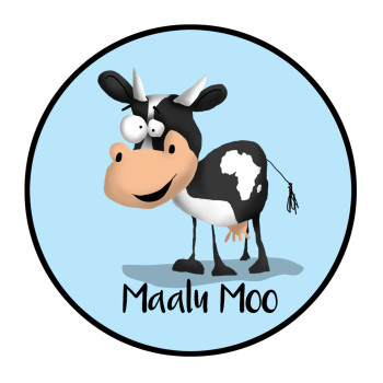 Cartoon Cow Illustration For Maalu Moo