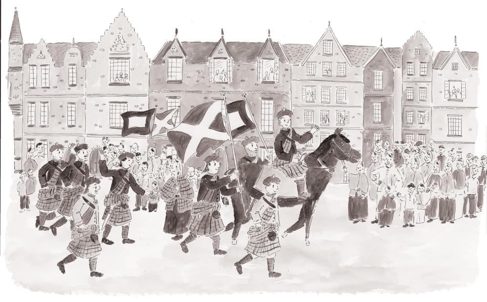 Arriving in Edinbrugh