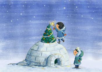 Christmas Tree in the igloo