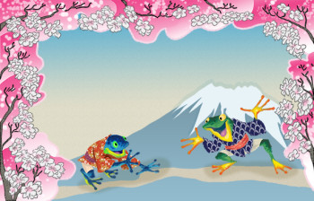 frogs in ancient Japan