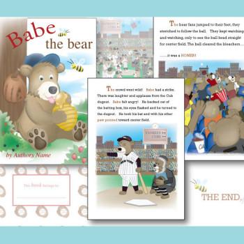 Babe the Bear children's book illustration