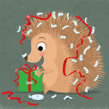 Gift wrapping Hedgehog