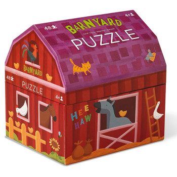 Barnyard puzzle toy box