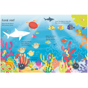 Wipe and Clean- Under the Sea- Usborne Books