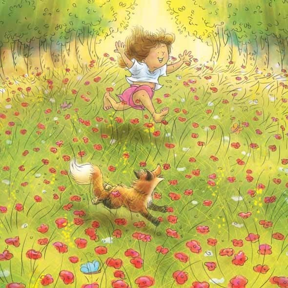Foxy & Roxy in Flowery Meadow