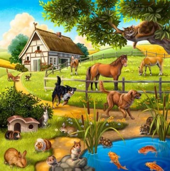 Puzzle - House Animals