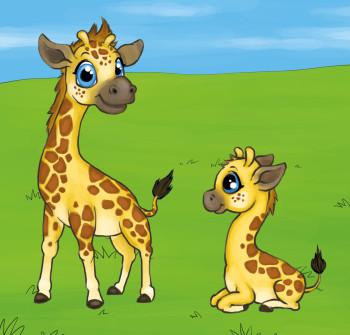 Two little Giraffes