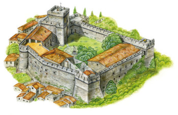 Castle of Sermoneta (Italy)
