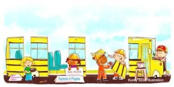 The Energy Bus for Kids (John Wiley & Sons, 2012) written by Jon Gordon - illustrated by Korey Scott
