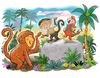 Monkey & Friends in the Jungle