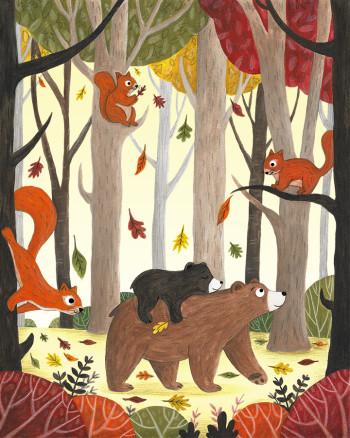 Bears Autumn Day