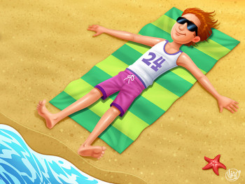 boy in beach