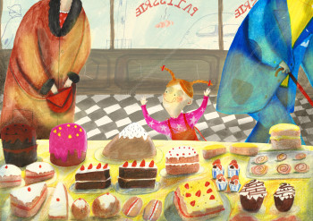 A Walk Through the High street - Speculative Picture Book Spread