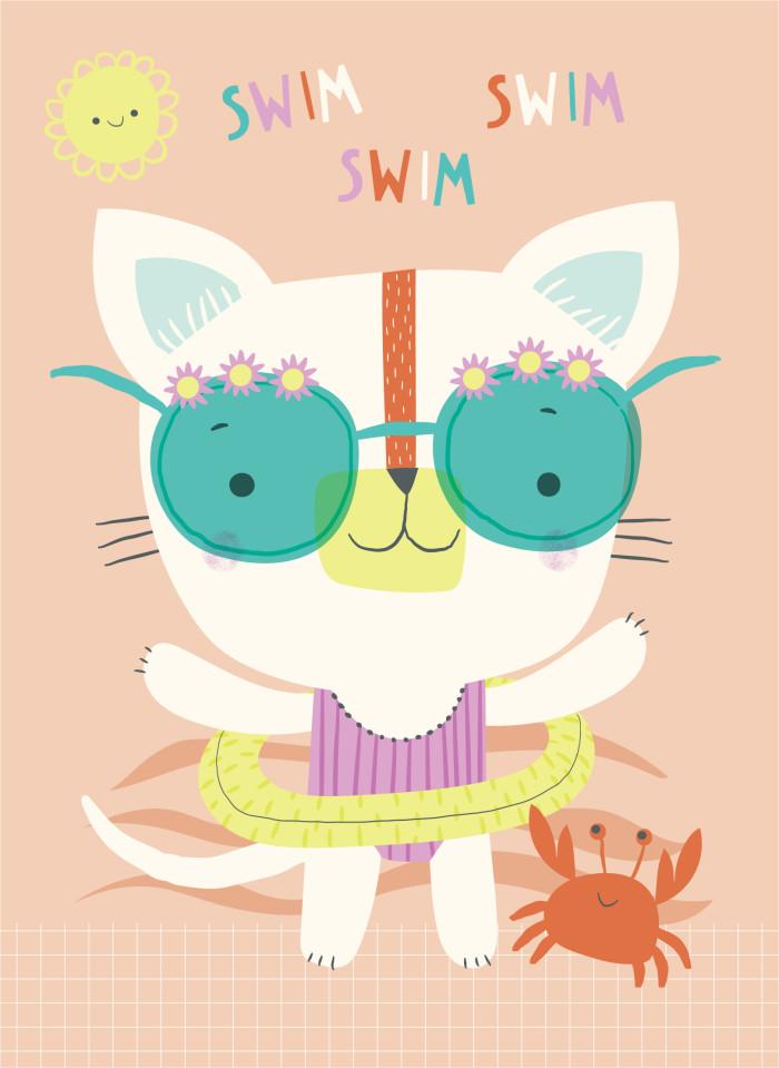 Swim Swim Swim Cat