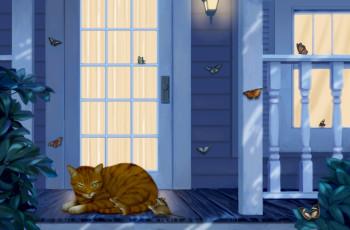 Do Butterflies Sleep? Tiger Cat