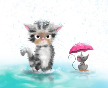 Happy in rain?
