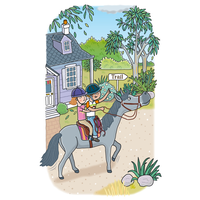 Riding Out of Town (Saddleback Stables)