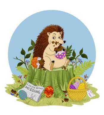 Evil Easter Hedgehog
