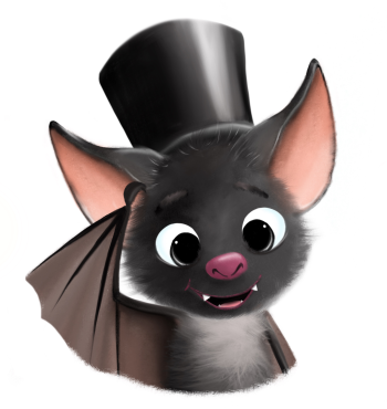 Bat with the hat