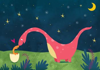 Dinosaur baby and Mum