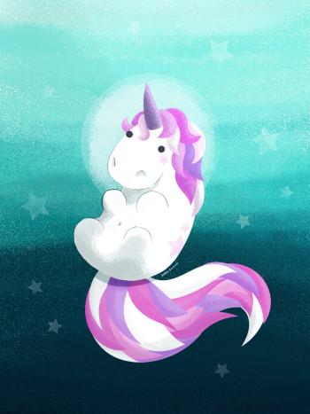Unicorn under the sea