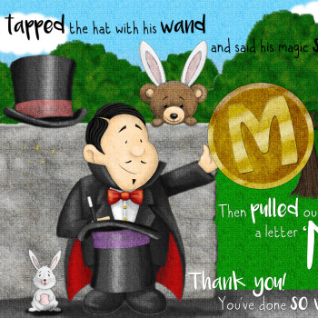 Magician with Rabbit illustration for Behind the Magic Door