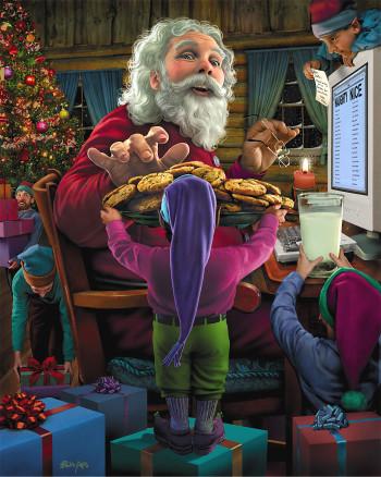 Santa Takes a Cookie Break