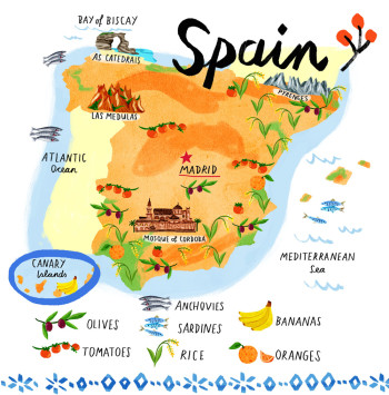 Food Map Of Spain