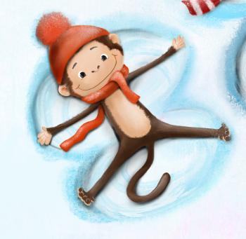 Monkey's angel in snow