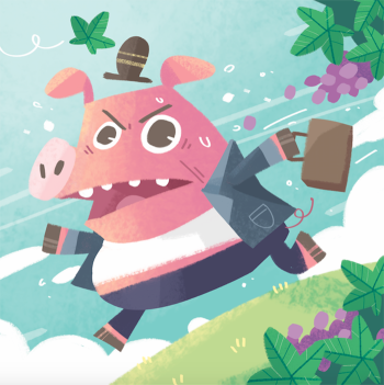 Mr Pig in a Rush