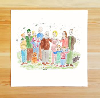 Personalised Family Art Print
