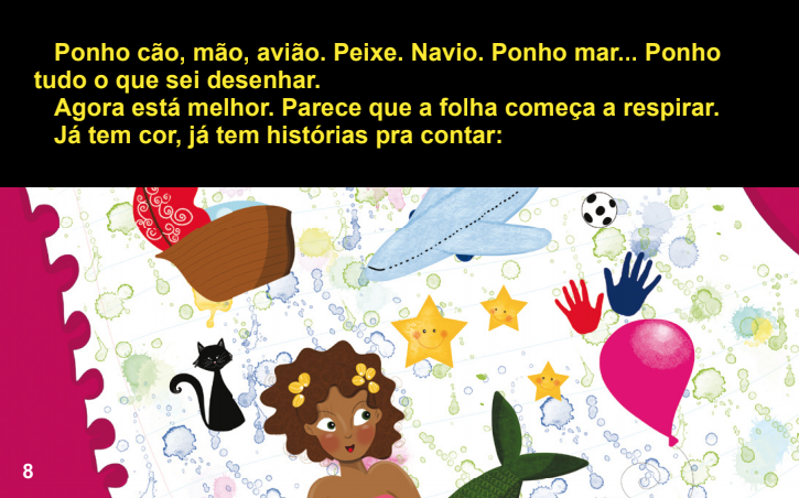 A book to children with visual impairments