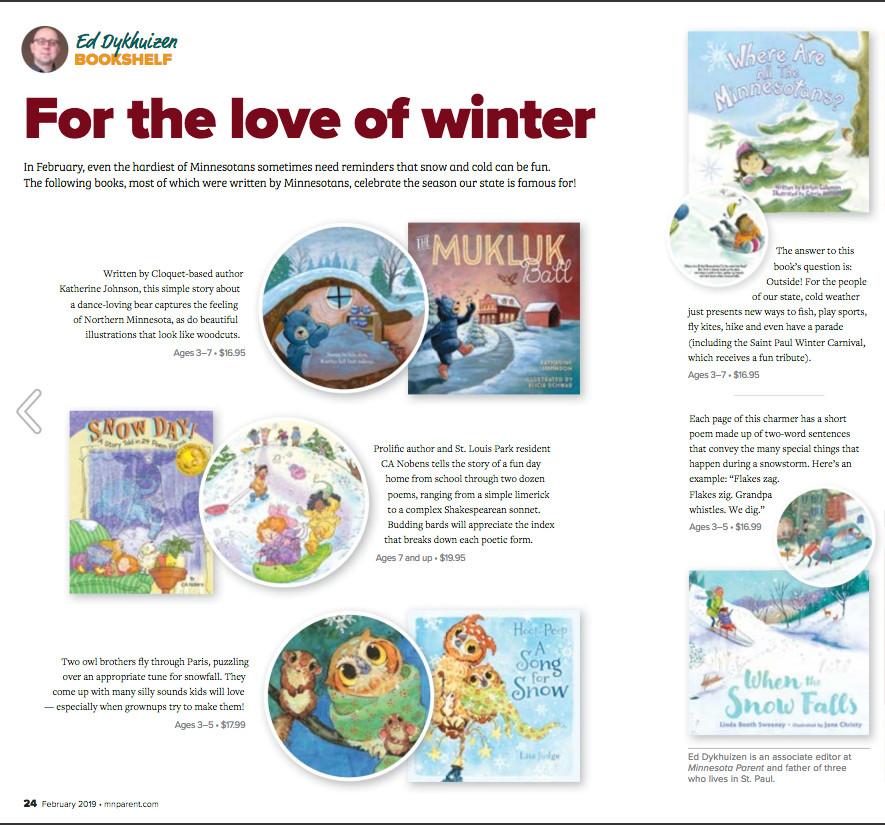 Minnesota Parent Magazine Reviews My New Book!