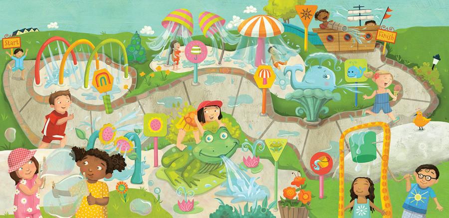 Splash! Laura Watson Illustrations for Highlights Summer Big Fun Workbook