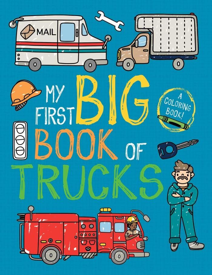 Princess & Trucks Colouring Books