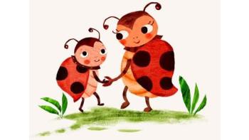 Ladybird illustration for Leben und Erziehen