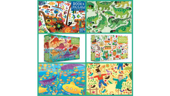 Usborne Book and Jigsaw - Under the Sea, On the Farm and Dinosaurs