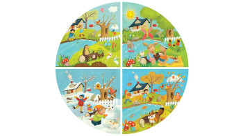 Gira Gira le Stagioni (Round seasons jigsaw puzzle and game)