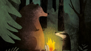 Woodland bonfire