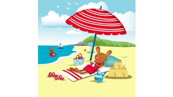 Rabbits on the beach